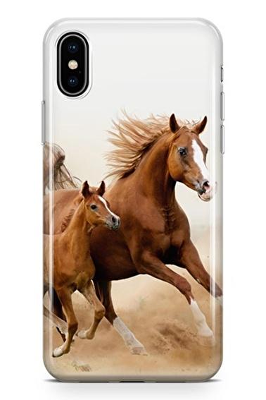 Lopard iPhone Xs Max Kılıf Silikon Arka Kapak Koruyucu Asaletin Ayak Sesleri Desenli Full HD Baskılı Renkli